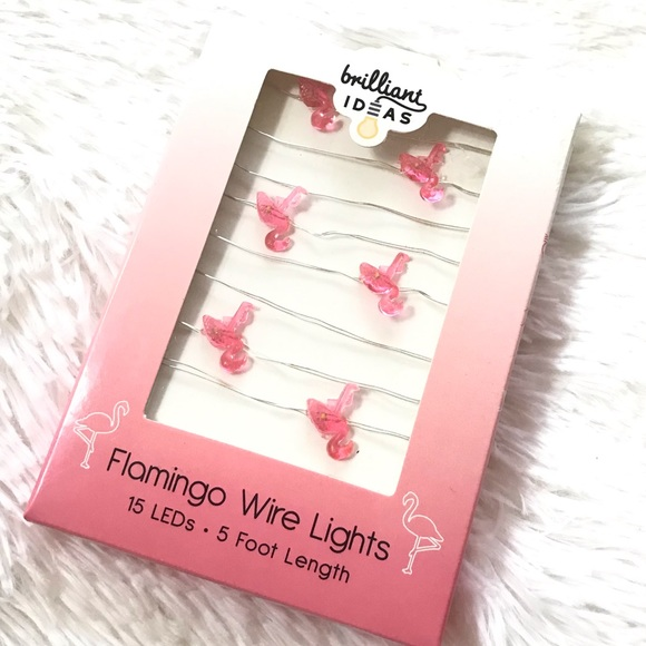 Brilliant Ideas Other - ⬇️$20 Pink Flamingo LED String Wire Lights 5 Ft
